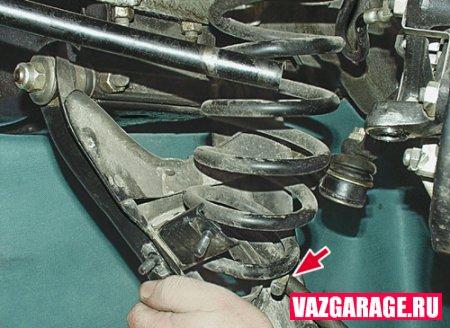 Замена пружин передней подвески ВАЗ 2106