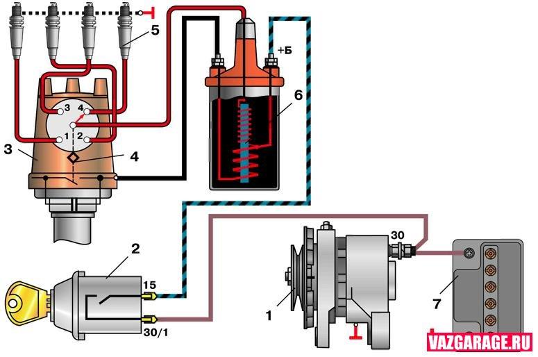 Схема подключать электронного зажигания на ваз 2106 271